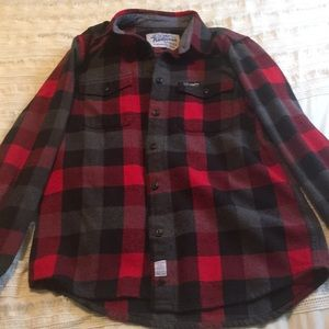 Penfield Tops - Red and Black Check Shirt